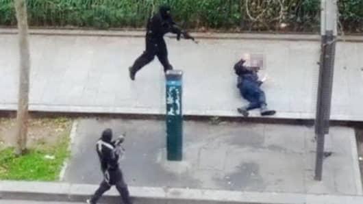 Paris gunmen and police officer victim