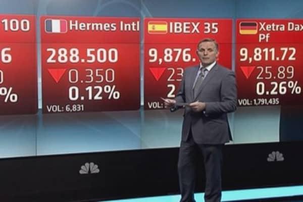 Europe shares retreat ahead of US jobs data