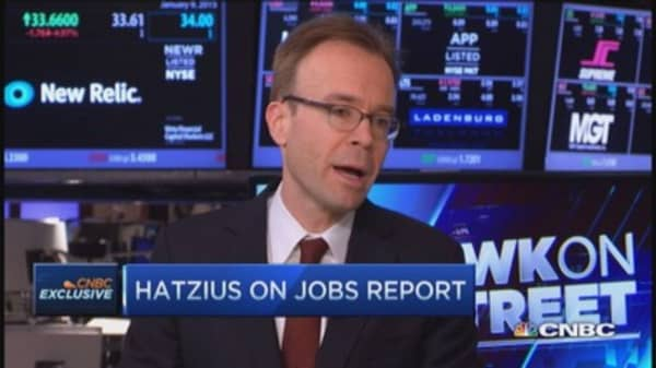 Hatzius: Strong growth picture in US