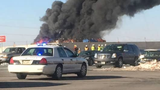 Fire in Ashburn, Virginia