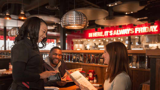 TGI Friday's announced plans to roll out tablets to help waitstaff.