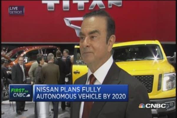 Nissan CEO: Expect autonomous car by 2020