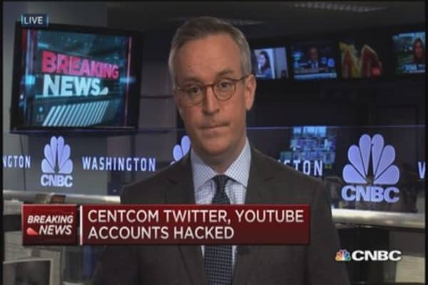 Centcom Twitter, YouTube accounts hacked