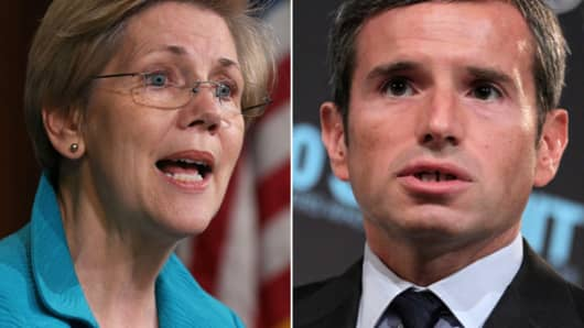 Elizabeth Warren and Antonio Weiss