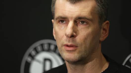 Brooklyn Nets owner Mikhail Prokhorov