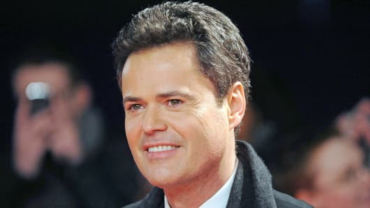 Donny Osmond attends the National Television Awards at 02 Arena in London.