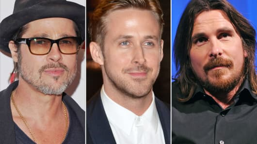 Brad Pitt, Ryan Gosling and Christian Bale
