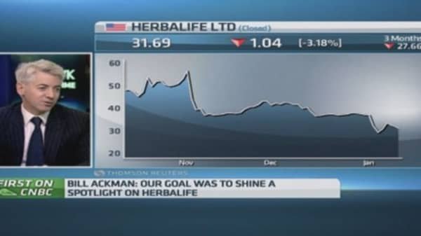 Ackman: 'We're in the money' with Herbalife