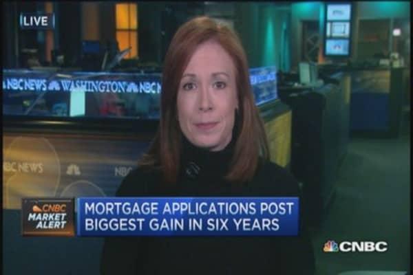 Mortgage apps spike 49% last week