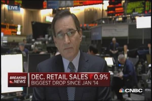 December retail sales down 0.9%