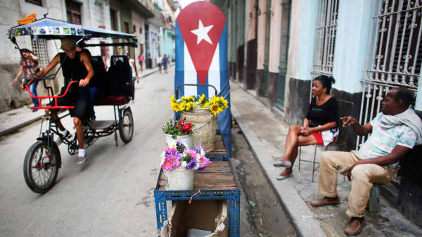 A street scene in Havana, Cuba