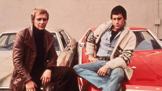 David Soul & Paul M. Glaser In 'Starsky & Hutch'.