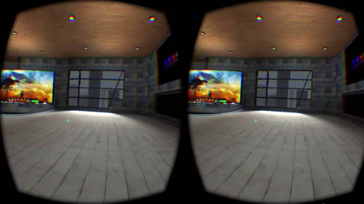 View of AltSpace VR.