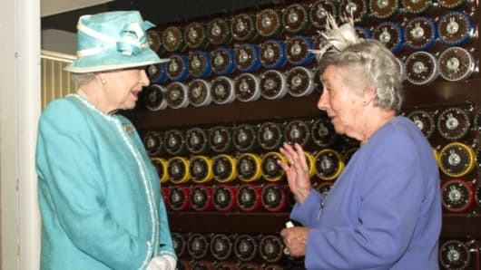 The Queen visits Bletchley Park where WW2 code breakers operated