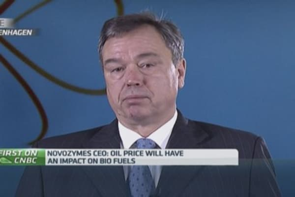 Low oil price will impact biofuels: Novozymes CEO