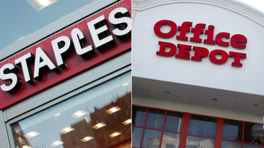 Staples and Office Depot stores