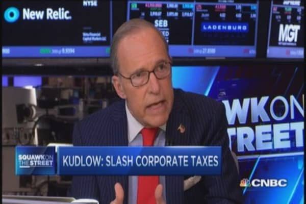 Kudlow: Slash corporate taxes