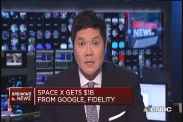 Google, Fidelity, pour $1 billion into SpaceX