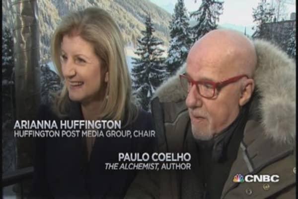 Face to face: Arianna Huffington & Paulo Coelho