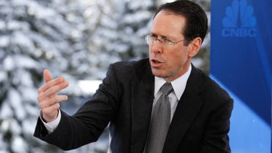 Randall Stephenson, CEO of AT&T in Davos, Switzerland