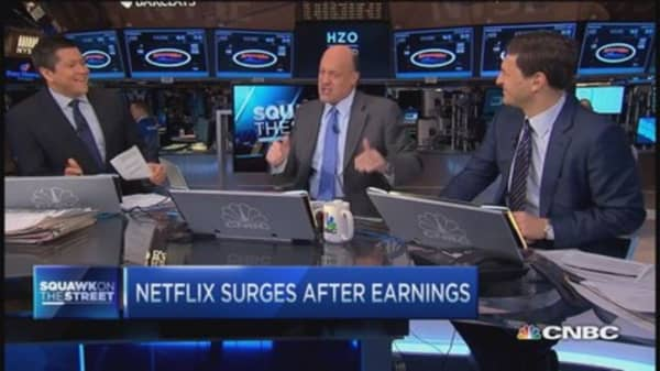 Cramer: Netflix growth opposite Amazon
