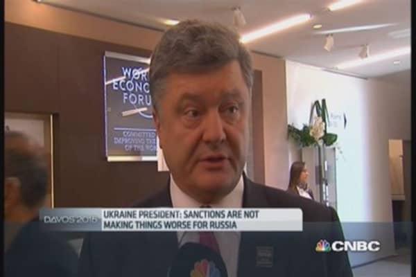 Ukraine President: Must stop this 'terrorism'
