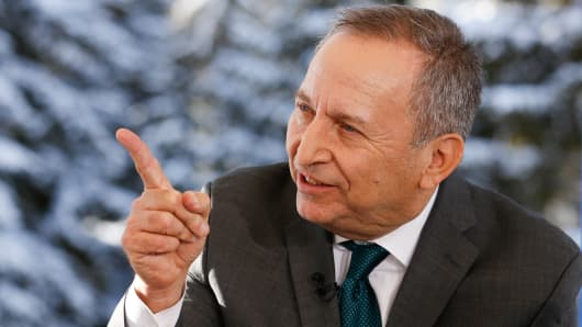 Larry Summers at 2015 WEF in Davos, Switzerland.
