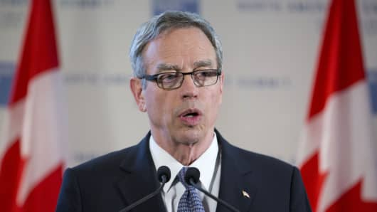 Joe Oliver, Canada's finance minister.