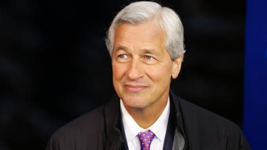 Jamie Dimon, chief executive officer of JPMorgan Chase & Co. at 2015 WEF in Davos, Switzerland.