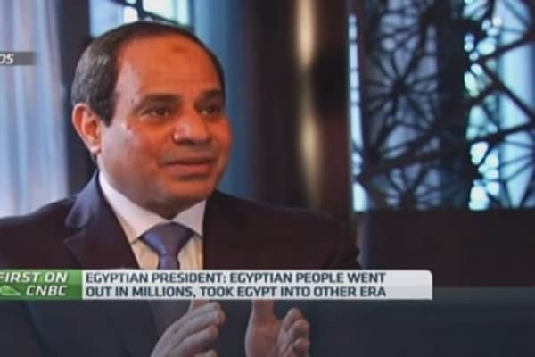 Egypt President: 'This is the new Egypt'