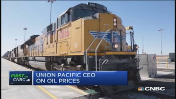 Union Pacific CEO: Playing low oil carefully