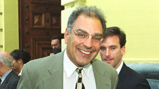 Peter Romero after a meeting with the Venezuelan Foreign Minister Jose Vicente Rangel in Caracas, Venezuela, Aug. 11, 1999.
