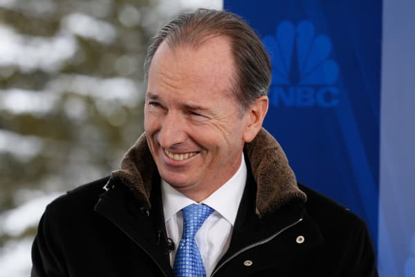 James Gordon, chairman and CEO of Morgan Stanley at 2015 WEF in Davos, Switzerland.
