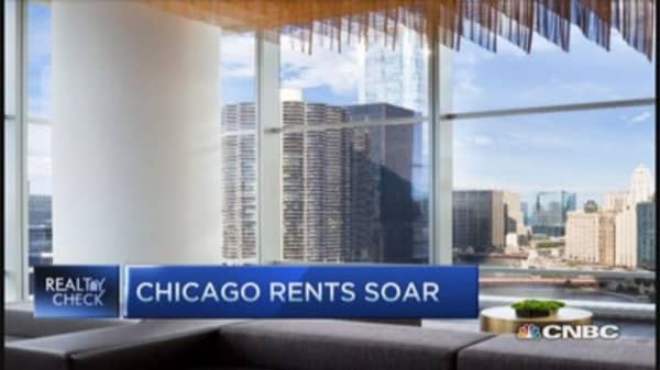 Chicago rents rise high