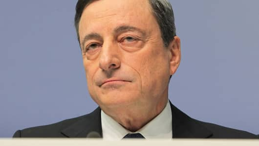 Mario Draghi, head of the European Central Bank