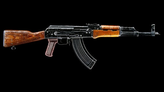 AK-47 side view