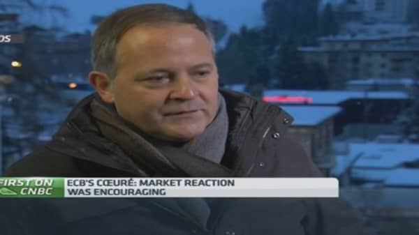 Market moves after QE 'encouraging': ECB's Coeuré