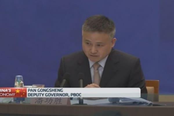 China's central bank backs ECB QE