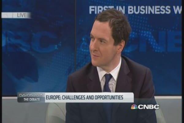QE won't solve Europe's problems: UK's Osborne