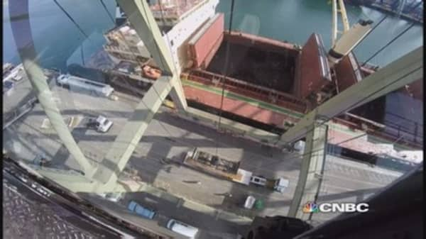 Bird's eye view from the port