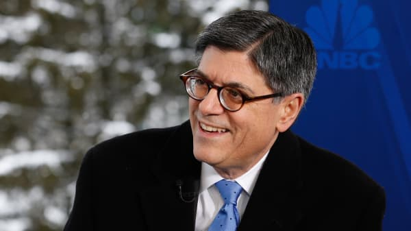 Jack Lew at the 2015 WEF in Davos, Switzerland.
