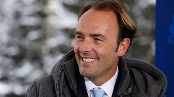 Kyle Bass at the 2015 WEF in Davos, Switzerland.