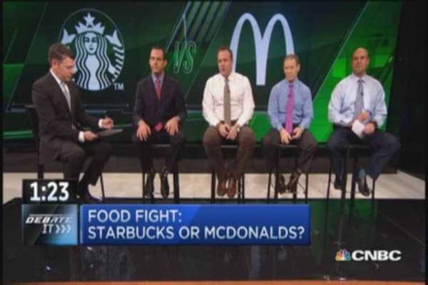 Better bet: Starbucks or McDonald's?