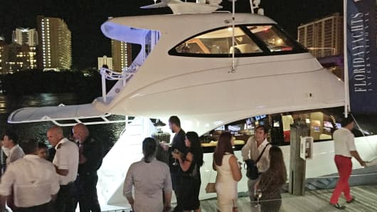 The Russian-American Chamber of South Florida held a yacht mixer on Thursday.