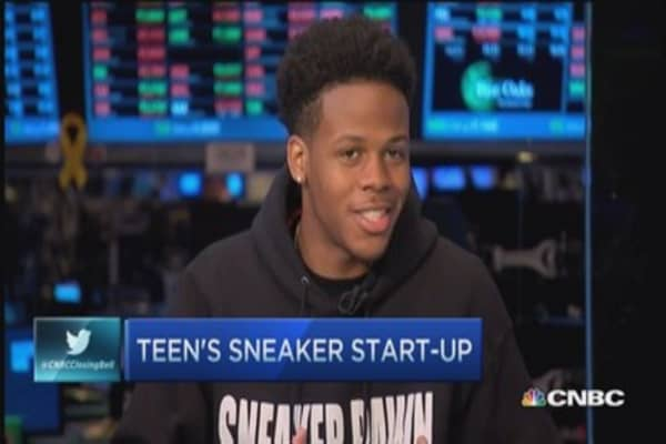 Sneakers are like the stock market: Teen entrepreneur