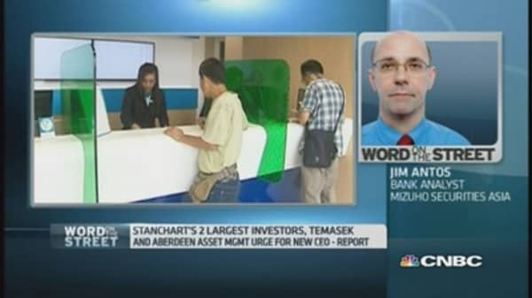 'Change at the top is necessary for StanChart': Pro