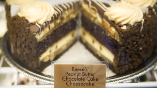 Reese's Peanut Butter Chocolate Cake Cheesecake at the Cheesecake Factory.