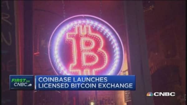 Coinbase launches licensed bitcoin exchange