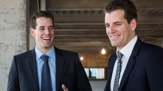 Cameron Winklevoss, left, and Tyler Winklevoss