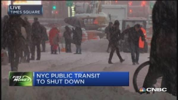 All NYC public transit to shut down